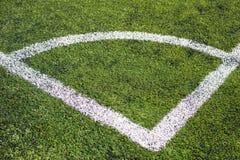 White corner line on field Stock Photo