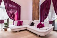 White corner sofa Stock Photos