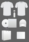 White corporate identity template Stock Photography