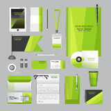 White corporate identity template with origami elements. Stock Image