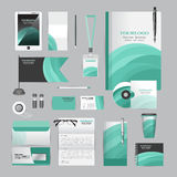 White corporate identity template with origami elements. Royalty Free Stock Photo