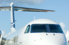 White corporate jet Stock Images