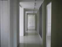 White Corridor Stock Photo