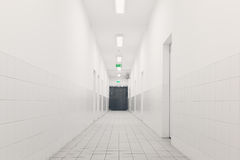 White, corridor Royalty Free Stock Photography