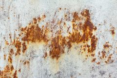 Free White Corroded Metal Background. Rusty And Scratched Painted Metal Wall. Rusty Metal Background With Streaks Of Rust Stock Photo - 165203380