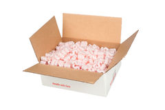 White shipping box Stock Images