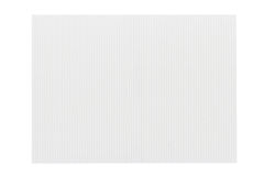 White corrugated cardboard texture Stock Photography