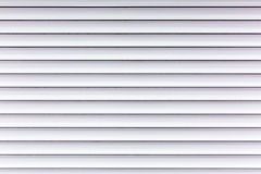 White corrugated painted metal sheets background Stock Images