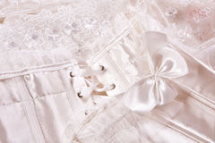 White corset closeup Stock Photography