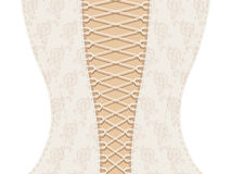 White corset with ribbon Royalty Free Stock Images