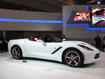 White Corvette Convertible Stock Photo