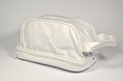 White cosmetic bag royalty free stock photos