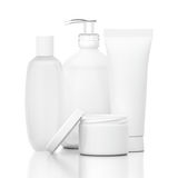 White Cosmetic Bottles Royalty Free Stock Photos