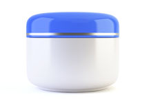 White cosmetic container Stock Photos