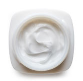 White cosmetic cream Royalty Free Stock Photography