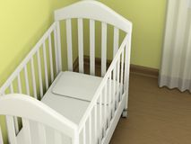White cot Royalty Free Stock Photography