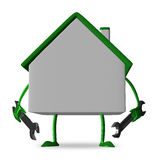 White cottage with wrenches Stock Photography