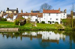Cottages on the river Cam, Cambridge, United Kingdom Stock Image