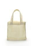 White Cotton bag. Cotton bag on white isolated background royalty free stock photos