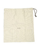White cotton bag. On white isolated background royalty free stock images