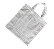 White cotton bag. On white isolated background royalty free stock photography