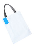 White cotton bag Royalty Free Stock Image