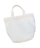 White cotton bag isolated Royalty Free Stock Photography