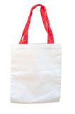 White cotton bag isolated Royalty Free Stock Images