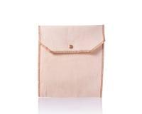 White cotton bag. Studio shot isolated on white. Background royalty free stock photos