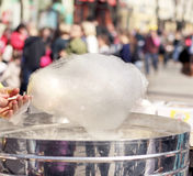 White cotton candy Royalty Free Stock Image