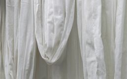 White cotton cloth hanging. Big white cotton cloth hanging Stock Images