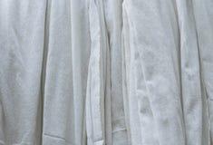 White cotton cloth hanging. Big white cotton cloth hanging Royalty Free Stock Image