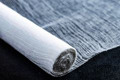 White cotton cloth for wounds stock images