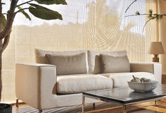 White Cotton Couch Stock Image