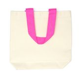 White cotton eco bag with pink handle Royalty Free Stock Photos