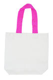 White cotton eco bag with pink handle Stock Images
