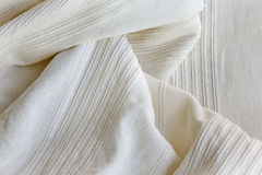 White cotton fabric Stock Photo