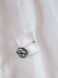 White cotton fabric background Stock Photo
