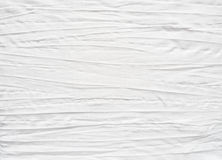 White cotton fabric with creased effect Stock Images
