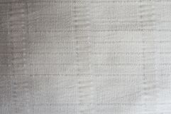 White cotton fabric with relief lines Royalty Free Stock Image