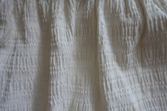 White cotton fabric in soft folds Royalty Free Stock Image