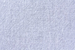 White cotton fabric textile texture to background Royalty Free Stock Images