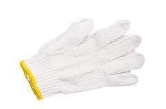 White cotton gloves Royalty Free Stock Photos