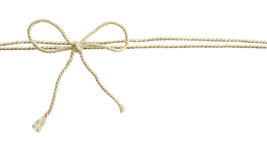 White cotton rope bow Royalty Free Stock Image