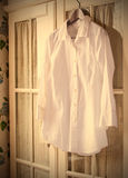 White cotton shirt on a hanger Royalty Free Stock Images