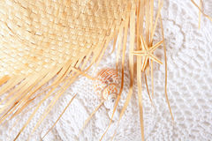 White cotton texture with  hat Stock Photography