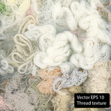 White Cotton texture. Vector thread background Royalty Free Stock Images