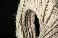 White cotton thread ball macro close up Stock Image