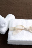 White cotton towels Stock Photography