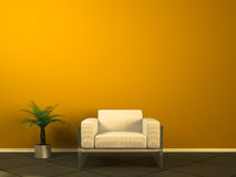 White couch Royalty Free Stock Images